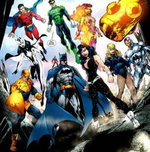 Justice League of America: Team History, group shot