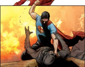 Batman/Superman #1, fight