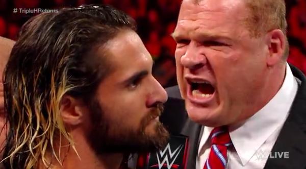 Kane, Seth Rollins, Raw 04202015