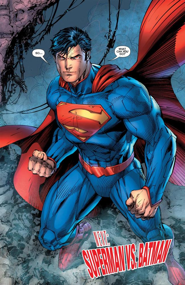 Justice League 1 2011 Final Page Superman Jim Lee
