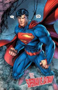 Justice League #1 (2011), final page, Superman, Jim Lee