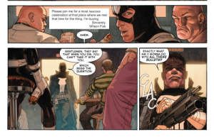 Secret Wars #1, Punisher, bar scene