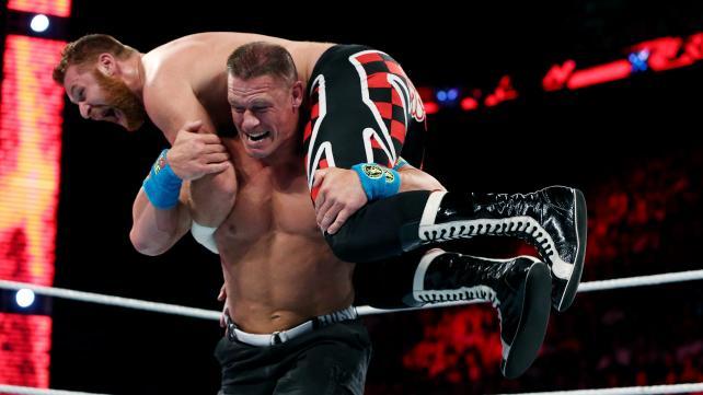 John Cena, Sami Zayn, Raw, April 4, 2015