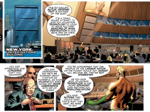 Justice League of America #1, Aquaman, United Nations