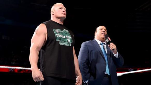 Brock Lesnar, Paul Heyman, Raw, 07/06/2015