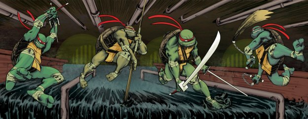 Teenage Mutant Ninja Turtles #1, IDW, cover spread