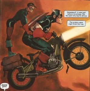 Captain America: White #1, Cap and Bucky