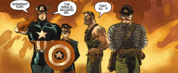 Captain America: White #1, Nick Fury, Dum Dum Duggan