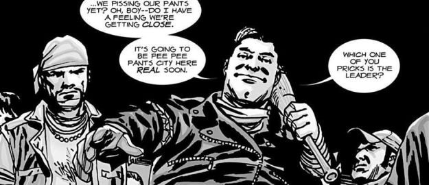 The Walking Dead #100, Negan's debut, Charlie Adlard