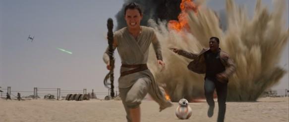 Rey, Finn, BB-8, Star Wars: The Force Awakens