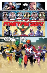 Mighty Morphin Power Rangers #0, morph scene