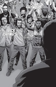 The Walking Dead #150, Charlie Adlard, Rick Grimes chant