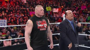 Brock Lesnar, Paul Heyman, WWE Raw, February 23, 2016