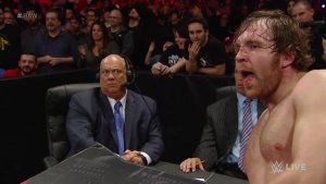 Dean Ambrose, Paul Heyman, WWE Raw, March 21, 2016