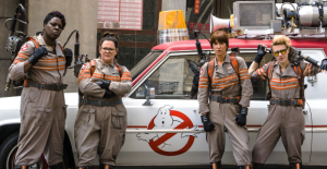 Ghostbusters 2016, the girls in gray