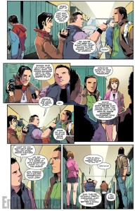 Mighty Morphin Power Rangers #1, interior