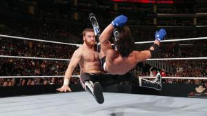 Sami Zayn, AJ Styles, WWE Raw, April 11, 2016