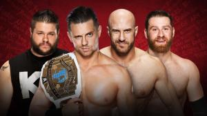 WWE Extreme Rules 2016, Kevin Owens, The Miz, Cesaro, Sami Zayn