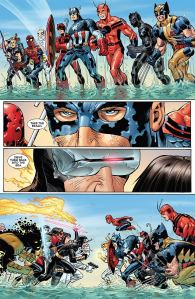 Avengers vs. X-Men #1, John Romita Jr., face off