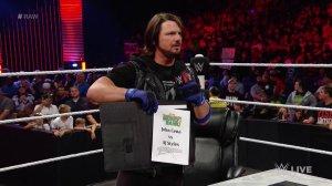 AJ Styles, WWE Raw, June 13, 2016