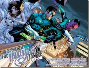 Green Lantern #7, 2012, Sinestro punch out