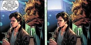 Han Solo #1, panel duplicate