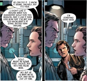 Han Solo #1, panel duplication #2