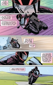 Power Rangers Pink, motorcycle