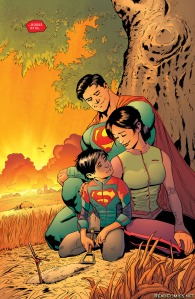 Superman #2, Patrick Gleason, family shot, 2016