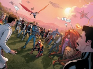 Civil War #3, 2016, group shot, David Marquez