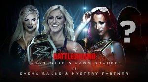 WWE Battleground 2016, Charlotte, Dana Brooke, Sasha Banks