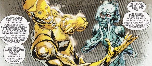 Justice League #28, Gold