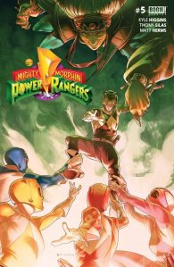 Mighty Morphin Power Rangers #5, 2016, Jamal Campbell