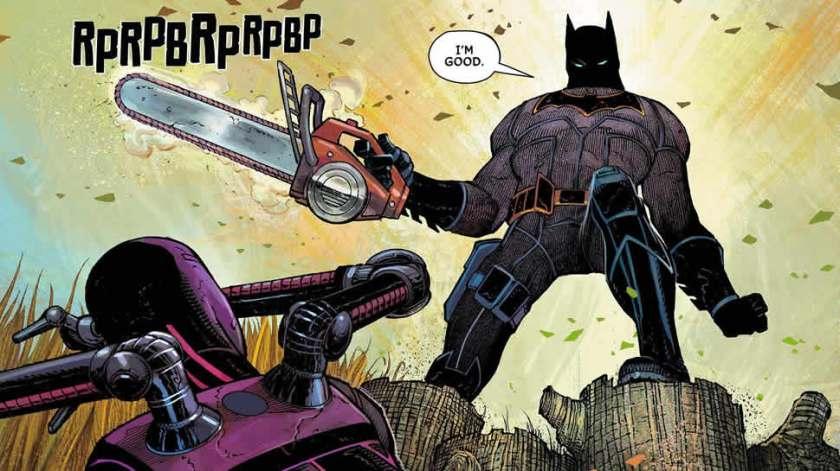 All Star-Batman #1, John Romita Jr., chainsaw