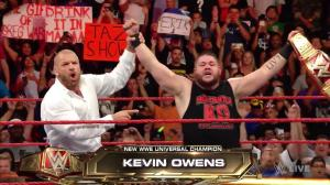 Triple H, Kevin Owens, WWE Raw, August 29, 2016
