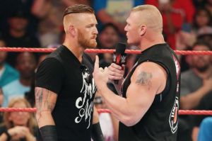 Heath Slater, Brock Lesnar, WWE Raw, August 15, 2016