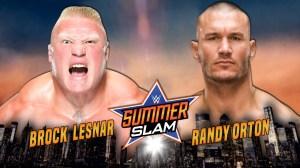Brock Lesnar vs. Randy Orton, Summerslam 2016