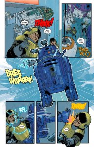 Poe Dameron #5, 2016, droid martial arts