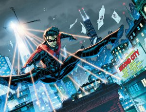 Nightwing #19, 2013, Brett Booth, two-page spread