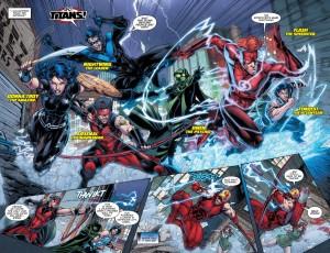 Titans #2, group shot, Brett Booth