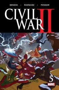 Civil War II #5, 2016, cover