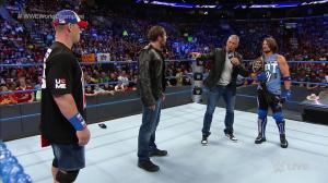 John Cena, Dean Ambrose, AJ Styles, WWE Smackdown, September 13, 2016