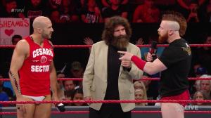 Cesaro, Mick Foley, Sheamus, September 26, 2016