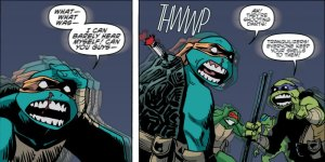 TMNT Universe #1, sonic weapon