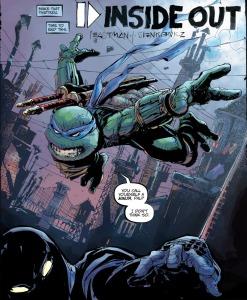 TMNT Universe #1, back-up, Leonardo