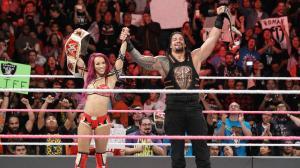 Sasha Banks, Roman Reigns, WWE Raw, October 10, 2016