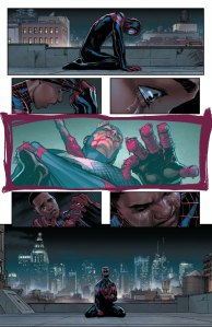 Civil War II #6, 2016, David Marquez, Miles Morales vision