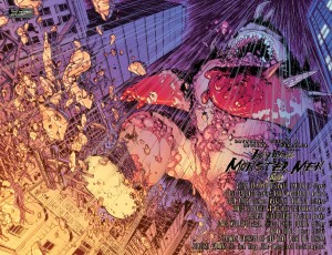 Detective Comics #942, monster two-page spread, 2016