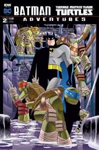 Batman/TMNT Adventures #2, Rick Burchett cover