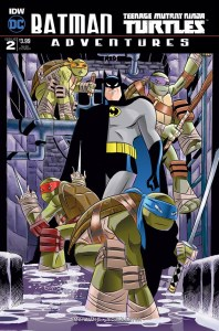 Batman/TMNT Adventures #2, Rick Burchett cover